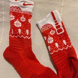 Nike Holiday Red Socks Basketball